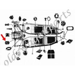 manchon de passage de câble d'embrayage dans le chassis 58-
