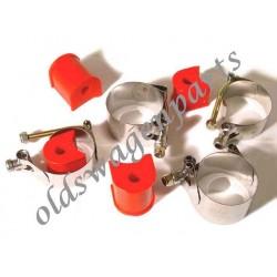 set de 4 colliers de barre stabilisatrice pour train avant à rotules en INOX