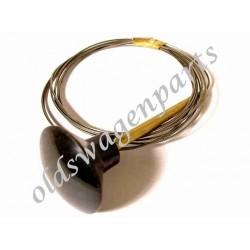 câble de capot avant -7/68 embout blanc