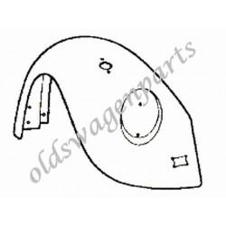 aile avant gauche 8/67-7/73 (avec trou de grille de klaxon et trou de clignotant)