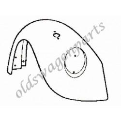 aile avant gauche 8/67-7/73 (sans trou de grille de klaxon et avec trou de clignotant)