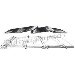 ciel de toit 58-63 découvrable en tissu ivoire