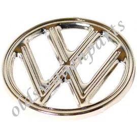 sigle rond VW chromé de capot avant 10/52-11/60 à 4 griffes de fixation