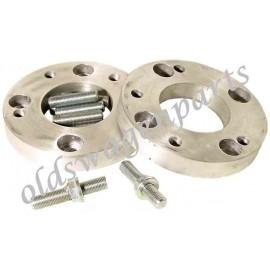 set de 2 adaptateurs de jante 4 trous (4x130) sur tambour 5 trous (5x205)