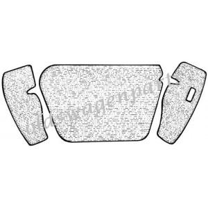 kit moquette de coffre avant noire  60-67