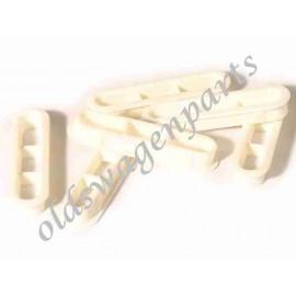 set de 6 grilles d'aération de lunette arrière blanches