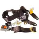 ceinture sécurité avant noire à enrouleur