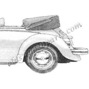 couvre capote alpaga noir cabriolet 72