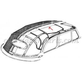 ciel de toit tissu beige cabriolet 59-63