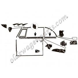 joint de déflecteur droit cabriolet 52-64