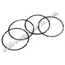 """set de 4 schims de haut de cylindre en cuivre 92 mm épaisseur 1,5mm (0,06"""")"""