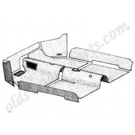 kit moquette intérieur noire cabriolet 56-68