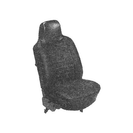 kit housses de sièges gris clair cabriolet 73 avec appuis-tête