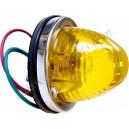 feu arrière rond glace transparente prévu pour ampoule simple filament