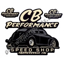 "autocollant ""CB PERFORMANCE SPEED SHOP"""
