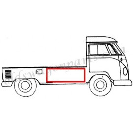 joint de capot de chargement latéral T2 pick up simple cabine -67