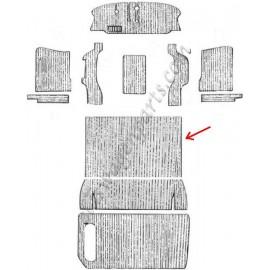 set de 4 moquettes noires avant pour véhicule équipé d'une banquette 61-67