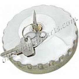 bouchon de réservoir 68-7/71 (en inox poli, à clés)