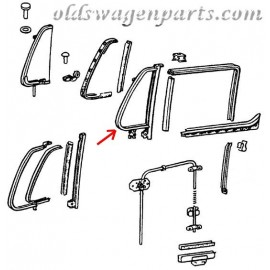 cadre de déflecteur avant gauche gris 68- (vendu avec joint)