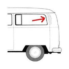 joint de vitre (cal-look) latérale centrale ou arrière gauche ou droite 68- (avec déflecteur)