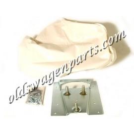 kit montage + housse de roue de secours blanc