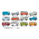 carte postale VW Combi Evolution