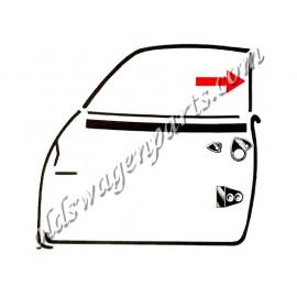 joints (2) d'étanchéité vertical de vitre de porte sur montant de vitre latéral arrière 56-59