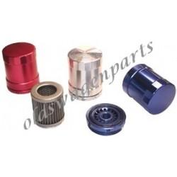 filtre à huile perpétuel en aluminium couleur aluminium