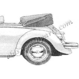 couvre capote alpaga noir cabriolet 73-77